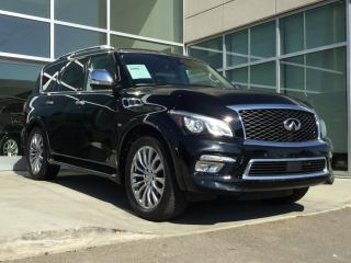 Used 2015 Infiniti QX80 TECH/LANE DEPARTURE/BLIND SPOT/AROUND VIEW MONITOR/DVD for sale in Edmonton, AB