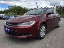 Used 2015 Chrysler 200 LX - Handsfree - Fuel Efficient for sale in Norwood, ON