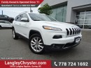 Used 2015 Jeep Cherokee Limited ACCIDENT FREE w/ 4X4, TECHNOLOGY GROUP & SAFETY TEC PACKAGE for sale in Surrey, BC