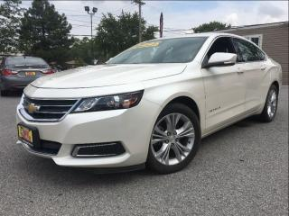 Used 2014 Chevrolet Impala LT PEARL WHITE CLOTH/LEATHER INTERIOR BIG SCREEN for sale in St Catharines, ON