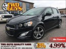 Used 2016 Chevrolet Sonic RS TURBO LEATHER SUNROOF AUTO for sale in St Catharines, ON