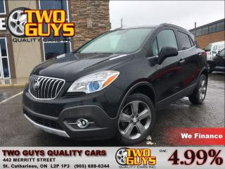 Used 2013 Buick Encore Convenience AWD BIG MAGS  LEATHER & CLOTH INTERIOR for sale in St Catharines, ON