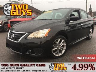 Used 2013 Nissan Sentra 1.8 SR NAVIGATION MOON ROOF BIG MAGS SPOILER for sale in St Catharines, ON