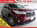 Used 2014 Toyota Highlander XLE| AWD| NAVI| LEATHER| SUNROOF| for sale in Burlington, ON