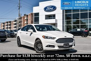 Used 2014 Ford Fusion SE - BLUETOOTH - MOONROOF - REAR VIEW CAMERA - NAV for sale in Ottawa, ON