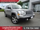 Used 2016 Jeep Patriot Sport/North ACCIDENT FREE w/ 4X4, LEATHER UPHOLSTERY & SUNROOF for sale in Surrey, BC
