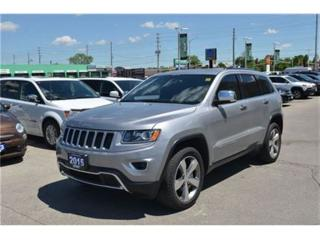 Used 2015 Jeep Grand Cherokee Limited - 4x4  Leather  Parksense  Sunroof for sale in London, ON
