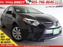 Used 2015 Toyota Corolla LE| BACK UP CAMERA| TOUCH SCREEN| for sale in Burlington, ON