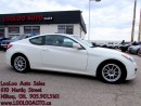 Used 2011 Hyundai Genesis Coupe 3.8L GT Manual Leather Sunroof Certified 2YR Warr for sale in Milton, ON