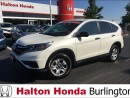 Used 2016 Honda CR-V LX / HEATED SEATS /BLUETOOTH for sale in Burlington, ON