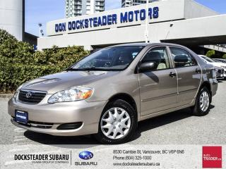 Used 2007 Toyota Corolla 4-door Sedan CE 4A for sale in Vancouver, BC