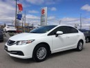 Used 2014 Honda Civic Sedan LX ~Heated Seats ~Honda Quality ~Tinted for sale in Barrie, ON