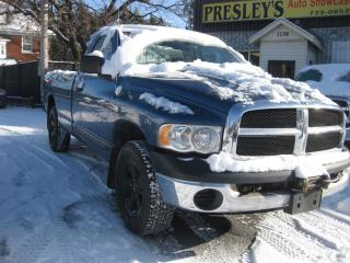 Used 2005 Dodge Ram 1500 ST Reg Cab V8 AC 4 x 4  Winch Long Box for sale in Ottawa, ON