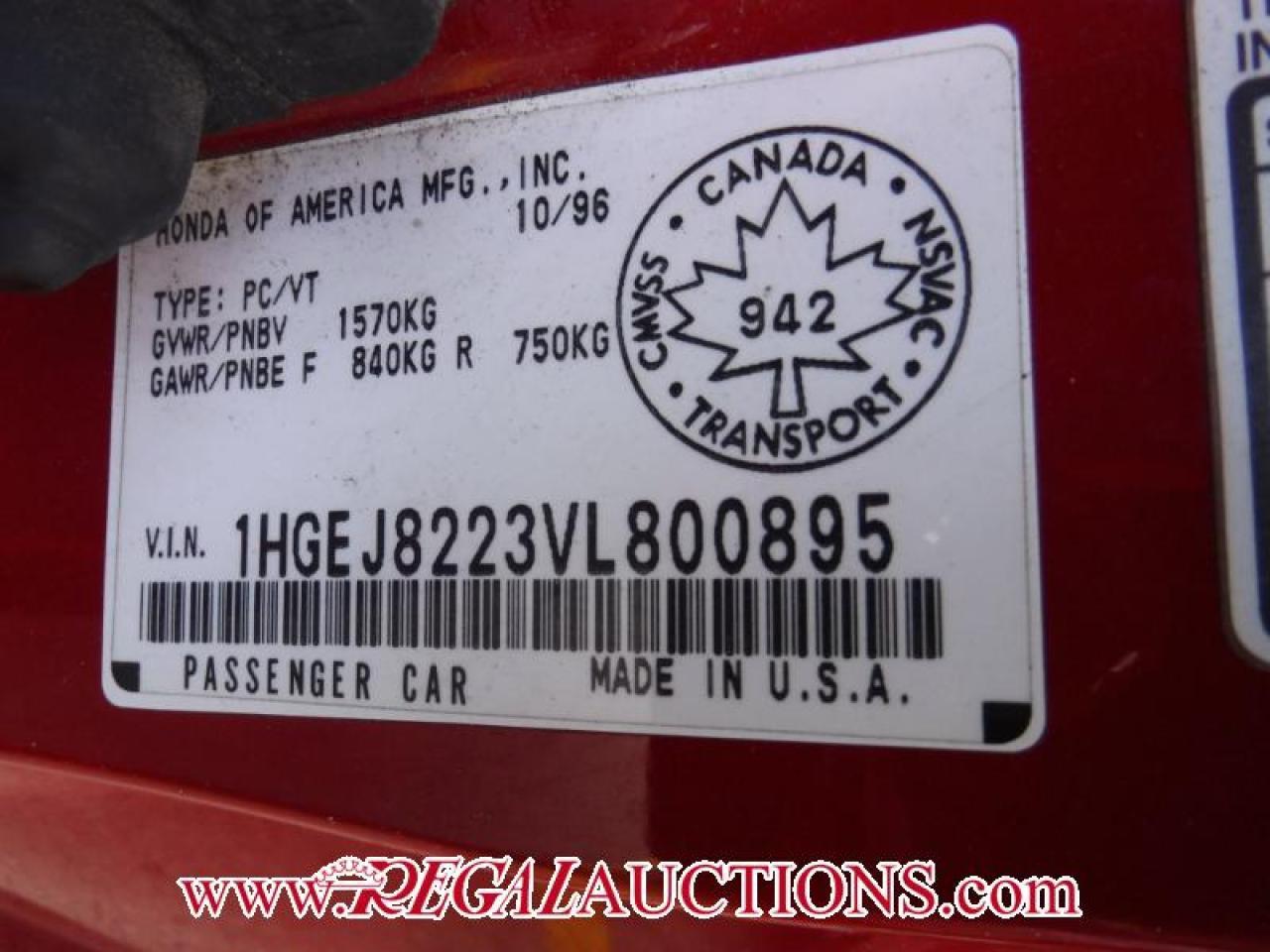 1997 Honda CIVIC SI 2D COUPE