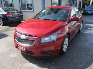 Used 2011 Chevrolet Cruze GAS SAVING 1-LT MODEL 5 PASSENGER 1.4L - TURBO.. CD/AUX/USB INPUT.. KEYLESS ENTRY.. for sale in Bradford, ON