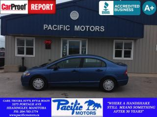 Used 2009 Honda Civic DX-G for sale in Headingley, MB