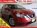 Used 2016 Nissan Sentra 1.8 SV| LOW KM'S| BACK UP CAMERA| PUSH START| for sale in Burlington, ON