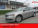 Used 2013 Volkswagen Passat 2.5 Trendline  BLUETOOTH. NEW TIRES, VERY CLEAN for sale in St Catharines, ON