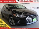 Used 2017 Hyundai Elantra GLS| SUNROOF| BACK UP CAMERA| PUSH START| for sale in Burlington, ON