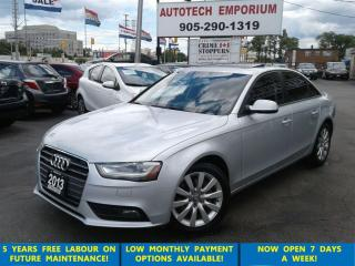 Used 2013 Audi A4 Prem. Tinted/Leather/Sunroof/Alloys for sale in Mississauga, ON
