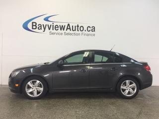 Used 2014 Chevrolet Cruze - TURBO! DIESEL! REM START! LEATHER! REV CAM! BSM! for sale in Belleville, ON