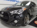 Used 2015 Hyundai Veloster Turbo with NAV, sunroof, back up cam, heated seats! Be a monster in our black veloster for sale in Edmonton, AB