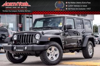 New 2017 Jeep Wrangler Unlimited New Car Sport|4x4|Pwr,DualTop,Connect,ColdWthrPkgs|Alpine|17