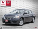 Used 2014 Nissan Sentra SV-Automatic 1-owner compact sedan w/large trunk for sale in Etobicoke, ON
