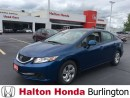 Used 2013 Honda Civic LX BLUE TOOTH HEATED SEATS for sale in Burlington, ON