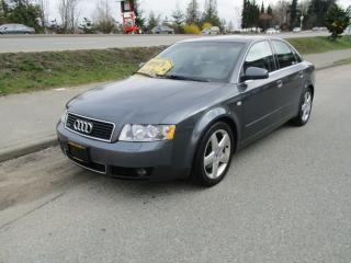 Used 2004 Audi A4 3.0L for sale in Surrey, BC