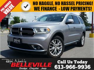 Used 2016 Dodge Durango Leather- Heated Seats - 7 Passenger - 20 IMS for sale in Belleville, ON