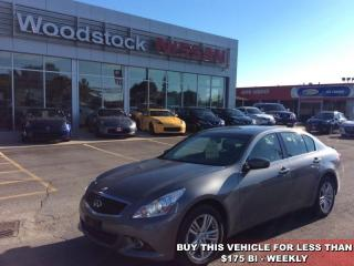Used 2013 Infiniti G37 Luxury  - $163.30 B/W for sale in Woodstock, ON