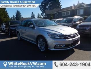 New 2017 Volkswagen Passat 3.6L VR6 Highline RAIN SENSING WIPERS, BACK UP CAMERA, HEATED SEATS & SUNROOF for sale in Surrey, BC