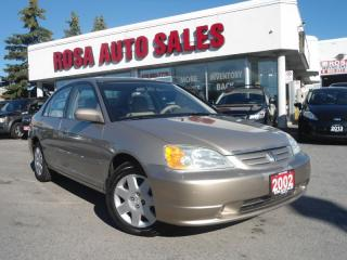 Used 2002 Honda Civic 4dr Sdn LX-G Auto LOW KM NO ACCIDENT PW PL PM NO R for sale in Oakville, ON