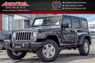 New 2017 Jeep Wrangler Unlimited New Car Sport|4x4|Connect,ColdWthr,DualTop,PwrConvPkgs|AC|17