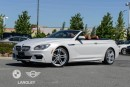 Used 2015 BMW 650i xDrive Cabriolet M Sport Package, Executive Package, and Premium Seating Package! for sale in Langley, BC