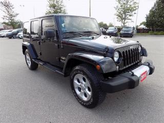 Used 2015 Jeep Wrangler Unlimited Sahara... NAVIGATION.. CLEAN CAR PROOF for sale in Milton, ON