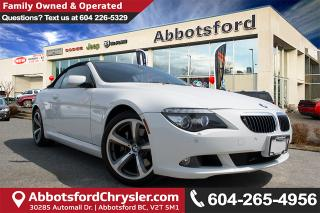 Used 2008 BMW 650i Convertible, Automatic & V-8! for sale in Abbotsford, BC