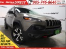 Used 2017 Jeep Cherokee Trailhawk| BLIND SPOT DETECTION| NAVI| LOW KM'S| for sale in Burlington, ON