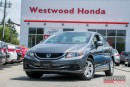 Used 2013 Honda Civic LX- 160,000 km Powertrain Warranty til 2020! for sale in Port Moody, BC