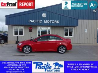 Used 2012 Chevrolet Cruze LT Turbo RS for sale in Headingley, MB