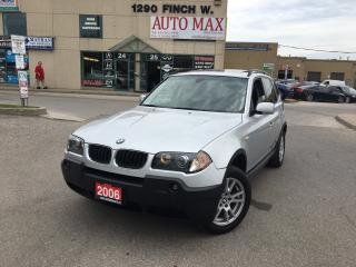 Used 2006 BMW X3 2.5i, Panoramic Roof, Alloy Rims, Low KM for sale in North York, ON
