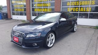 Used 2011 Audi S4 NAVI, Bluetooth, Lane Assist, Back up Cam, AWD for sale in Oakville, ON
