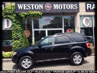Used 2012 Ford Escape XLT *V6 *AWD *FLEXFUEL *POWER GROUP *A MUST SEE for sale in York, ON