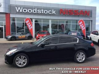 Used 2013 Infiniti G37 Sport  - $178.15 B/W - Low Mileage for sale in Woodstock, ON