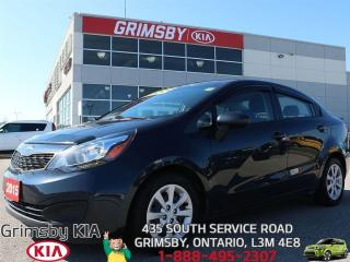 Used 2015 Kia Rio LX+ IT'S BLUE, BUT YOU'LL NEVER FEEL BLUE!!! for sale in Grimsby, ON