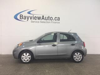 Used 2015 Nissan Micra S- 5 SPEED! 1.6L! PURE DRIVE! CLEAN CARPROOF! for sale in Belleville, ON