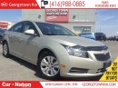 Used 2014 Chevrolet Cruze 1LT | 1.4L | LOW KM | POWER OPTIONS | for sale in Georgetown, ON
