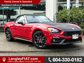 New 2017 Fiat 124 Spider Abarth FRONT HEATED SEATS! RAIN SENSING WIPERS! for sale in Surrey, BC