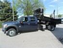 Used 2016 Ford F-550 Crew Cab 4x4 diesel with hydraulic 12 ft dump for sale in Richmond Hill, ON